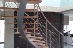 Escalier design bois acier Annecy